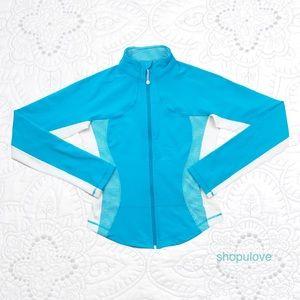 Lululemon Blue White Gingham Forme Jacket Size 8